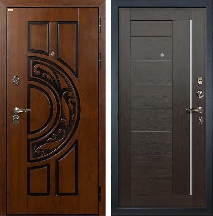 Входная металлическая дверь Лекс Спартак Cisa Верджиния Венге (панель №39)