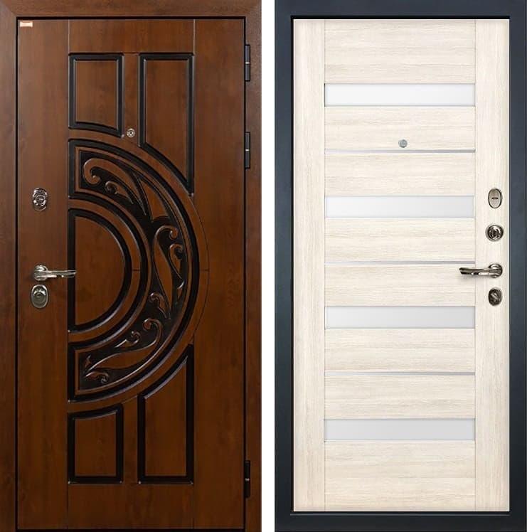 Входная металлическая дверь Лекс Спартак Cisa Сицилио Белёный дуб (панель №46)