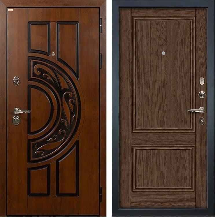 Входная металлическая дверь Лекс Спартак Cisa Энигма-1 Орех (панель №57)
