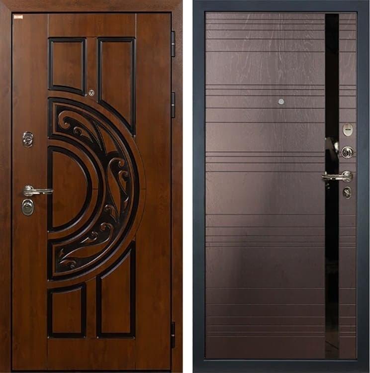 Входная металлическая дверь Лекс Спартак Cisa Ясень шоколад (панель №31)