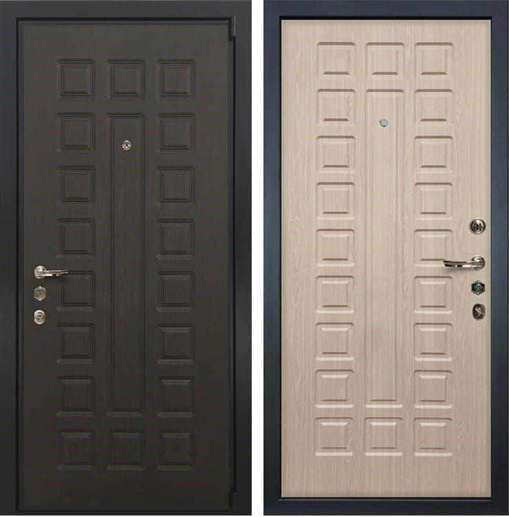 Входная металлическая дверь Лекс 4А Неаполь Mottura Беленый дуб (панель №20)