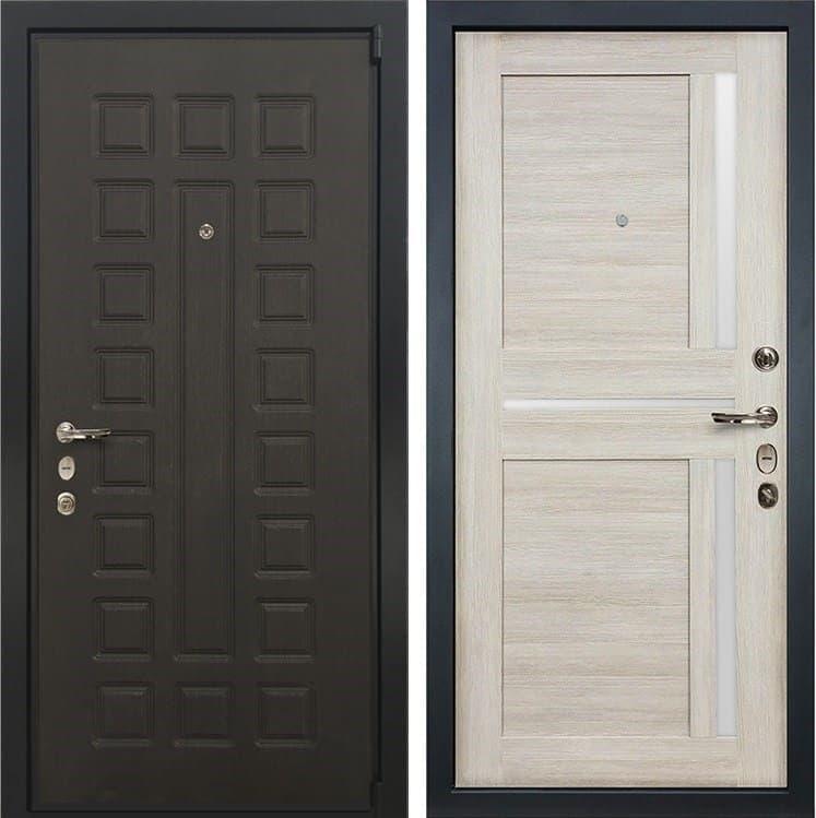 Входная металлическая дверь Лекс 4А Неаполь Mottura Верджиния Ясень кремовый (панель №40)