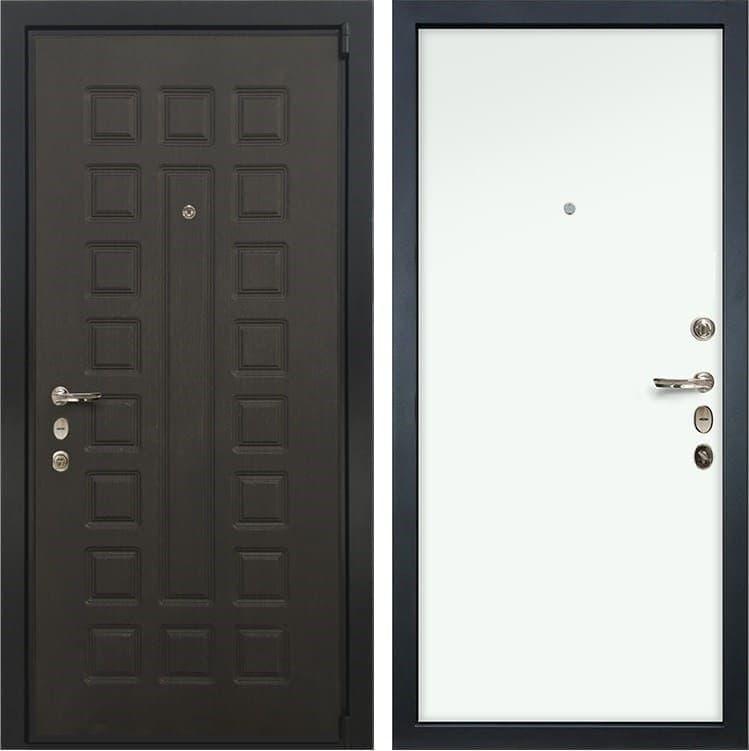 Входная металлическая дверь Лекс 4А Неаполь Mottura Винорит Белый (панель №59)