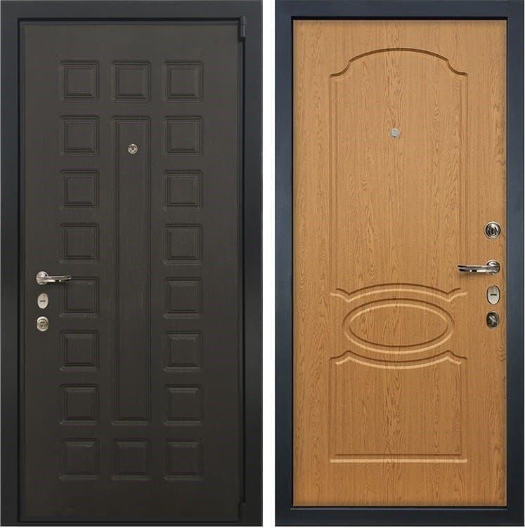Входная металлическая дверь Лекс 4А Неаполь Mottura Дуб натуральный (панель №15)