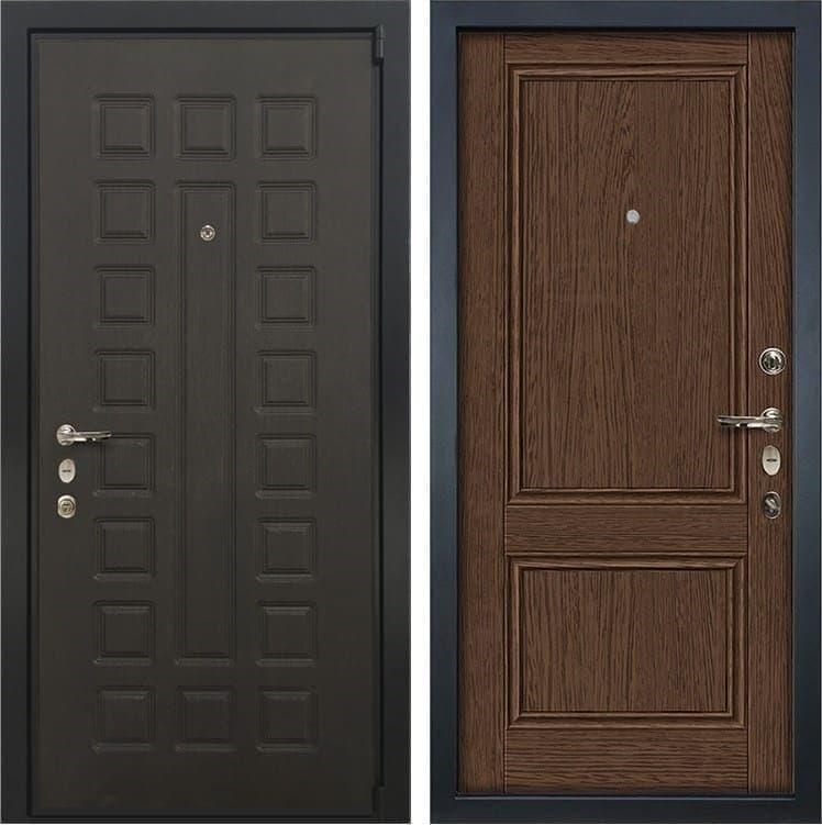 Входная металлическая дверь Лекс 4А Неаполь Mottura Энигма-1 Орех (панель №57)