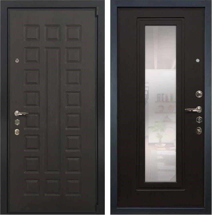 Входная металлическая дверь Лекс 4А Неаполь Mottura с Зеркалом Венге (панель №22)