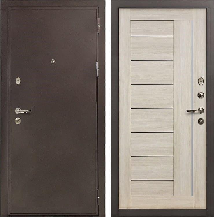 Входная металлическая дверь Лекс 5А Цезарь Верджиния Ясень кремовый (панель №40)