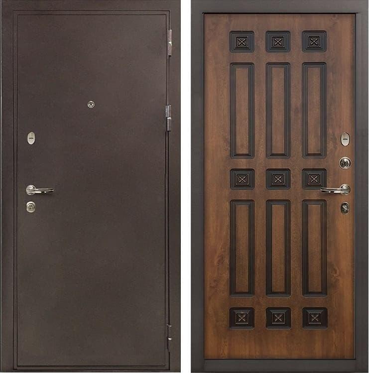 Входная металлическая дверь Лекс 5А Цезарь Голден патина черная (панель №33)