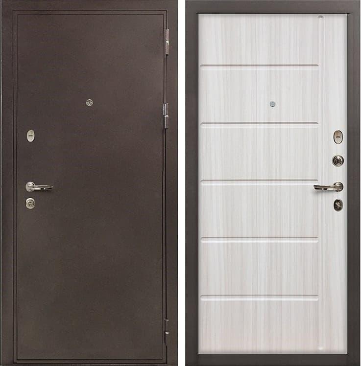 Входная металлическая дверь Лекс 5А Цезарь Сандал белый (панель №42)