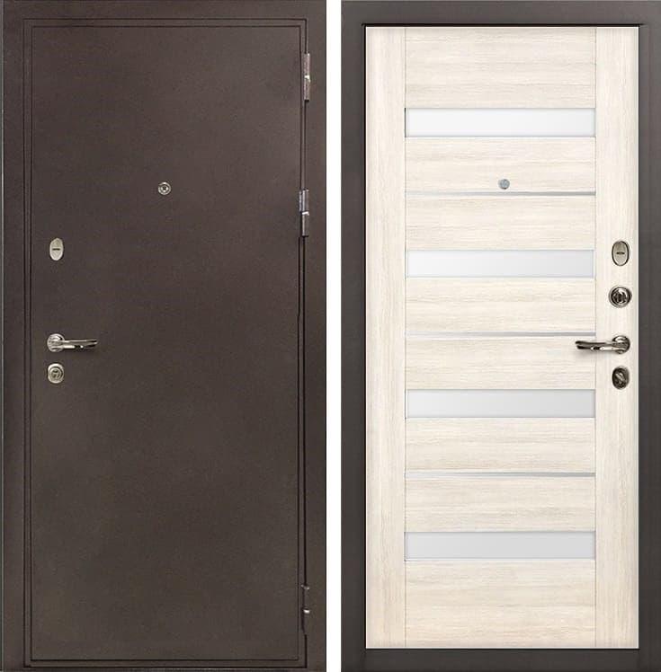 Входная металлическая дверь Лекс 5А Цезарь Сицилио Беленый дуб (панель №46)