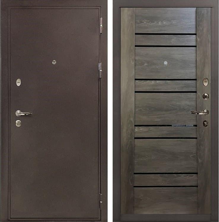Входная металлическая дверь Лекс 5А Цезарь Терра Графит Шале (панель №64)