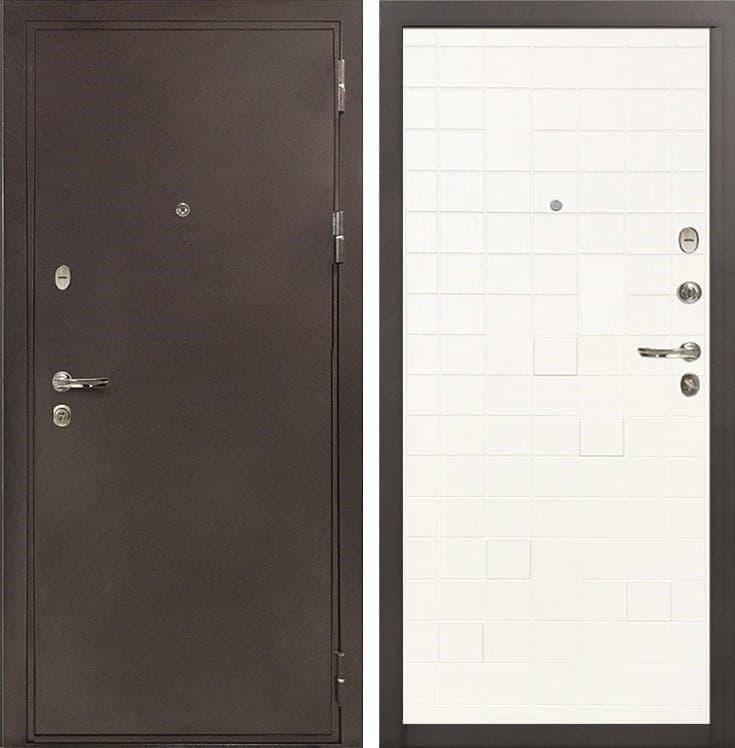 Входная металлическая дверь Лекс 5А Цезарь Ясень белый (панель №56)