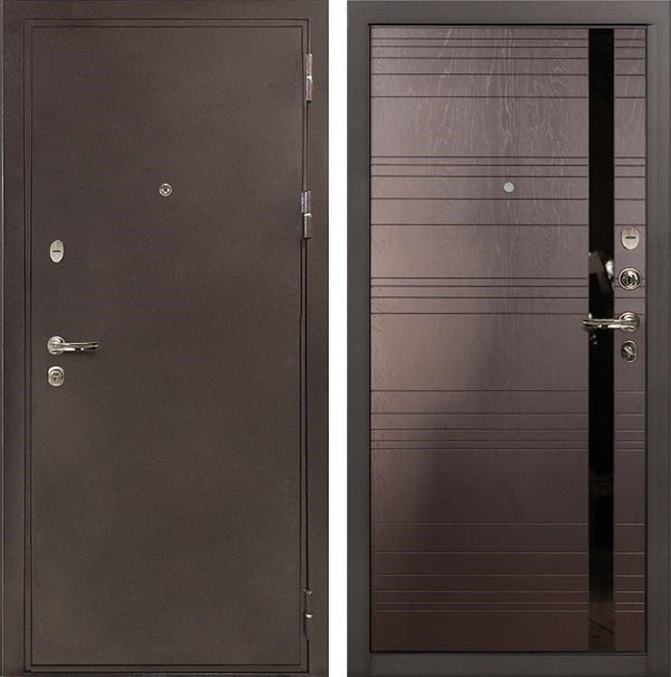 Входная металлическая дверь Лекс 5А Цезарь Ясень шоколад (панель №31)