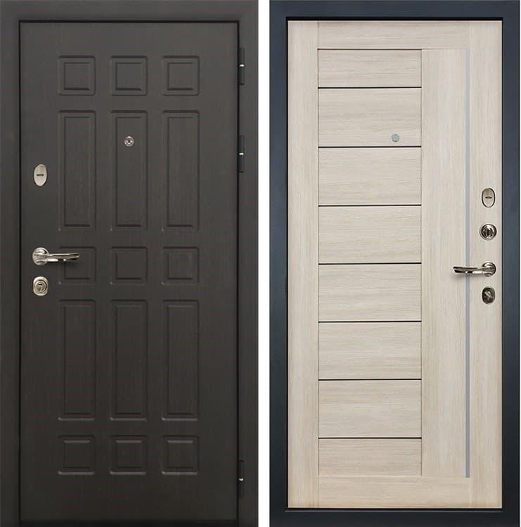 Входная металлическая дверь Лекс 8 Сенатор Верджиния Ясень кремовый (панель №40)