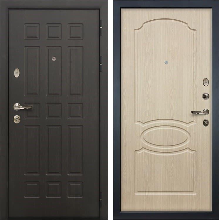 Входная металлическая дверь Лекс 8 Сенатор Дуб беленый (панель №14)
