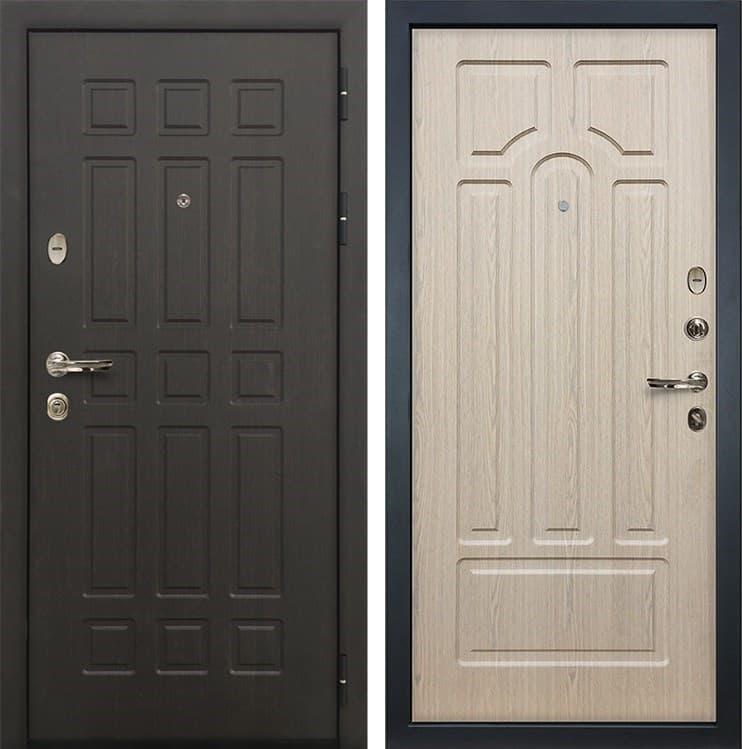Входная металлическая дверь Лекс 8 Сенатор Дуб беленый (панель №25)