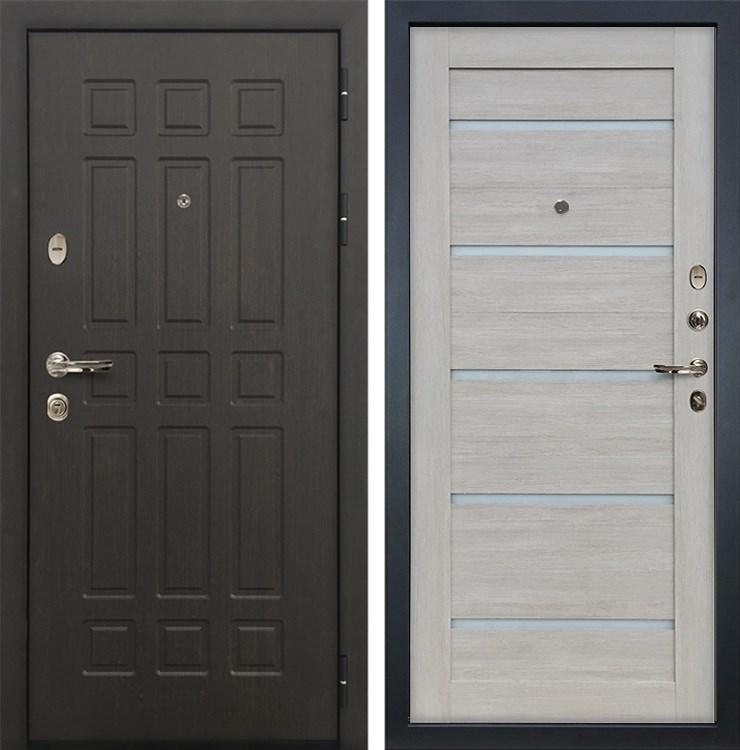 Входная металлическая дверь Лекс 8 Сенатор Клеопатра-2 Ясень кремовый (панель №66)