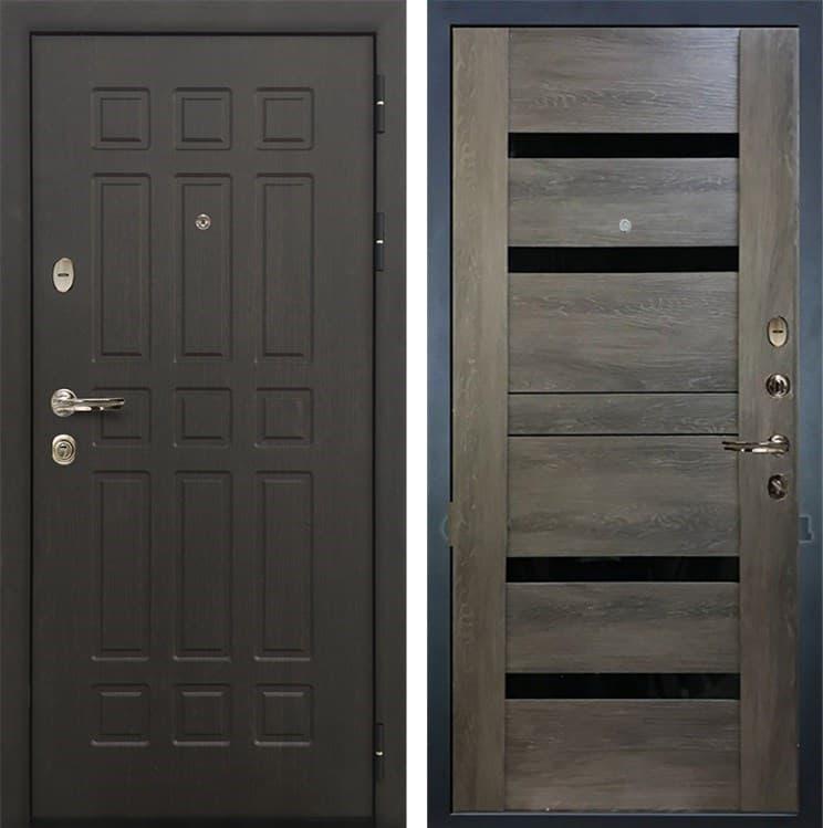 Входная металлическая дверь Лекс 8 Сенатор Неро Графит Шале (панель №65)