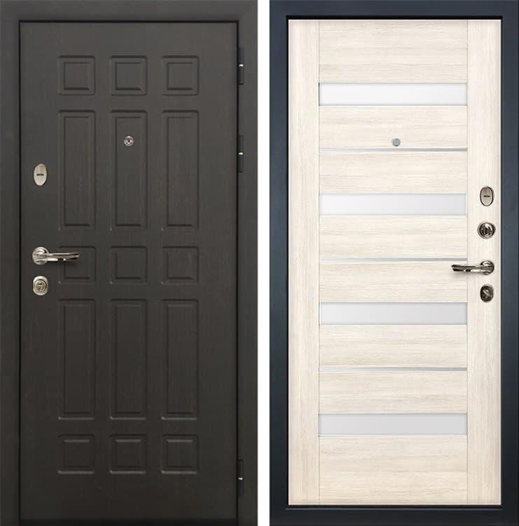 Входная металлическая дверь Лекс 8 Сенатор Сицилио Дуб беленый (панель №46)
