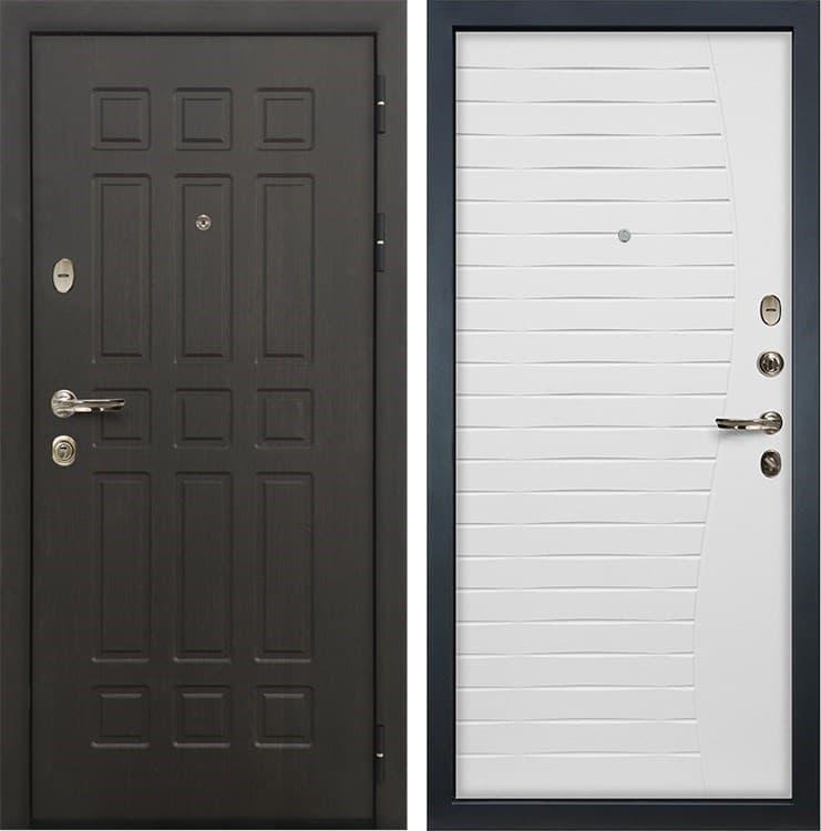 Входная металлическая дверь Лекс 8 Сенатор Ясень белый (панель №36)