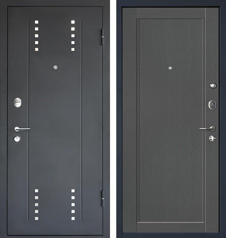 Входная металлическая дверь МеталЮр М26 (Черный бархат / Грувд)