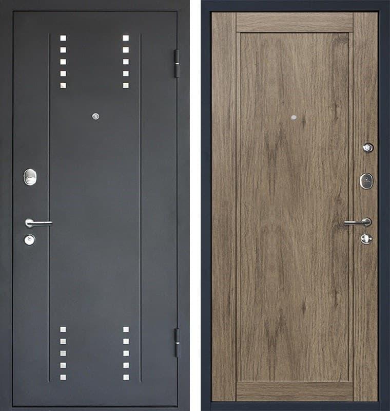 Входная металлическая дверь МеталЮр М26 (Черный бархат / Cалинас темный)