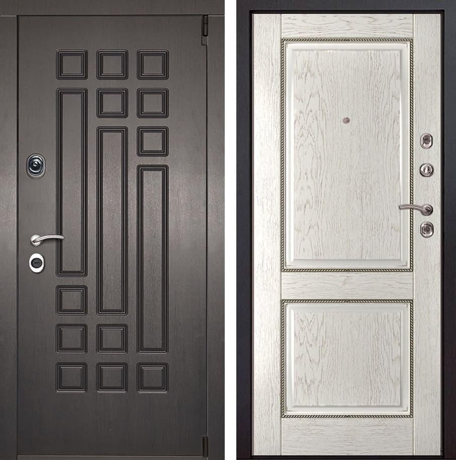 Входная металлическая дверь Милан 71 (Венге патина / Капучино)