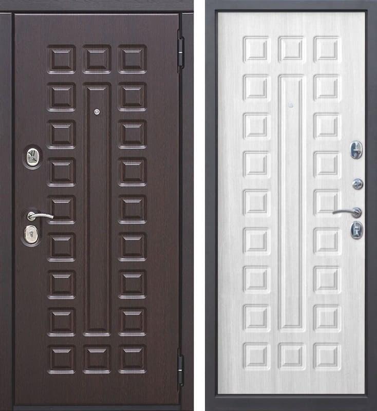 Входная металлическая дверь Монарх (Венге / Ясень белый)