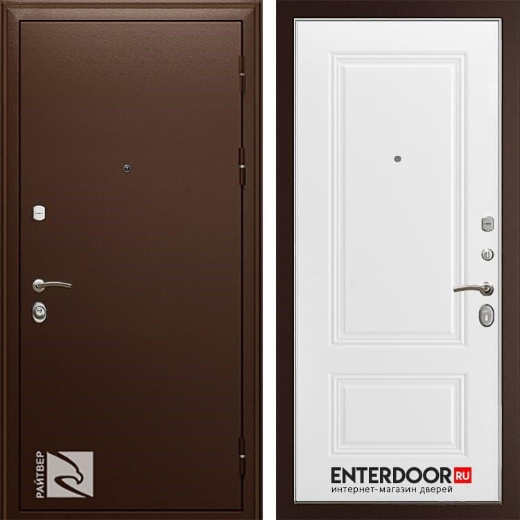 Входная металлическая дверь Райтвер Премьер Аккорд А-15 (Медный антик / Белая эмаль)