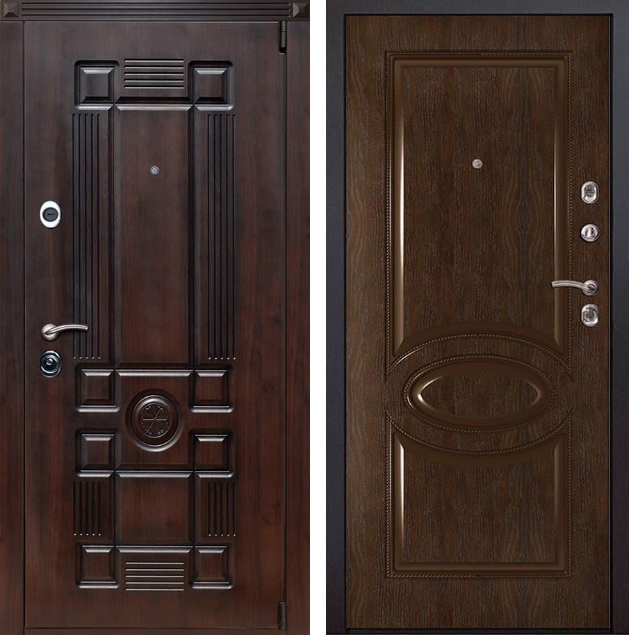 Входная металлическая дверь Рим 70 (Вишня тёмная / Каштан)