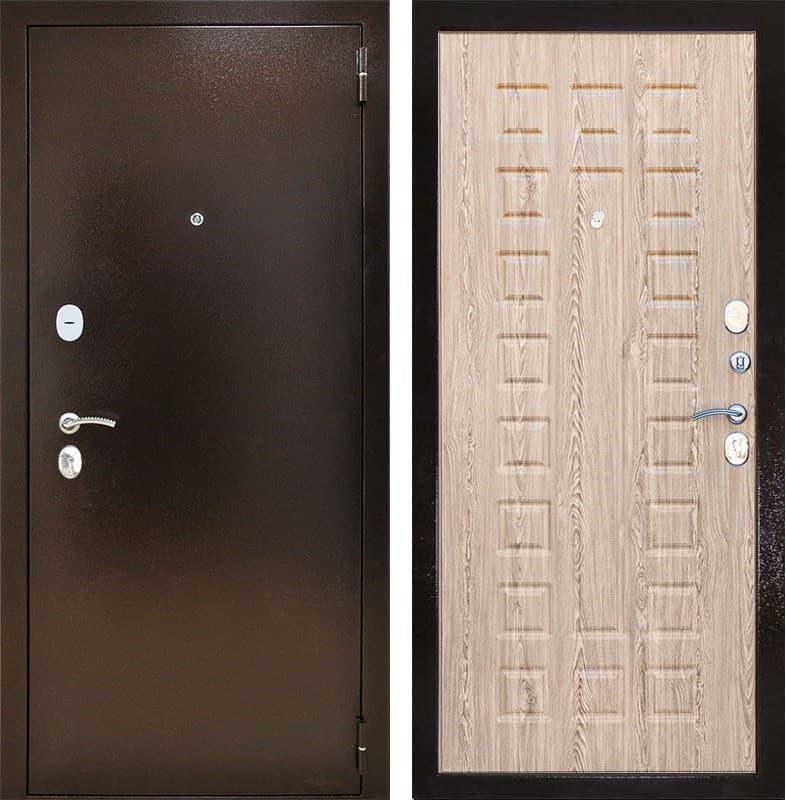 Входная металлическая дверь Снедо Патриот 2К (Медный антик / Ель Карпатская)