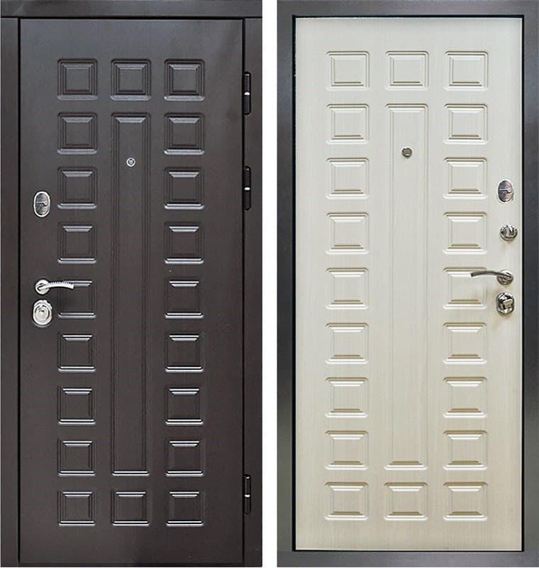 Входная металлическая дверь Снедо Сенатор 3К (Венге винорит / Белая лиственница)