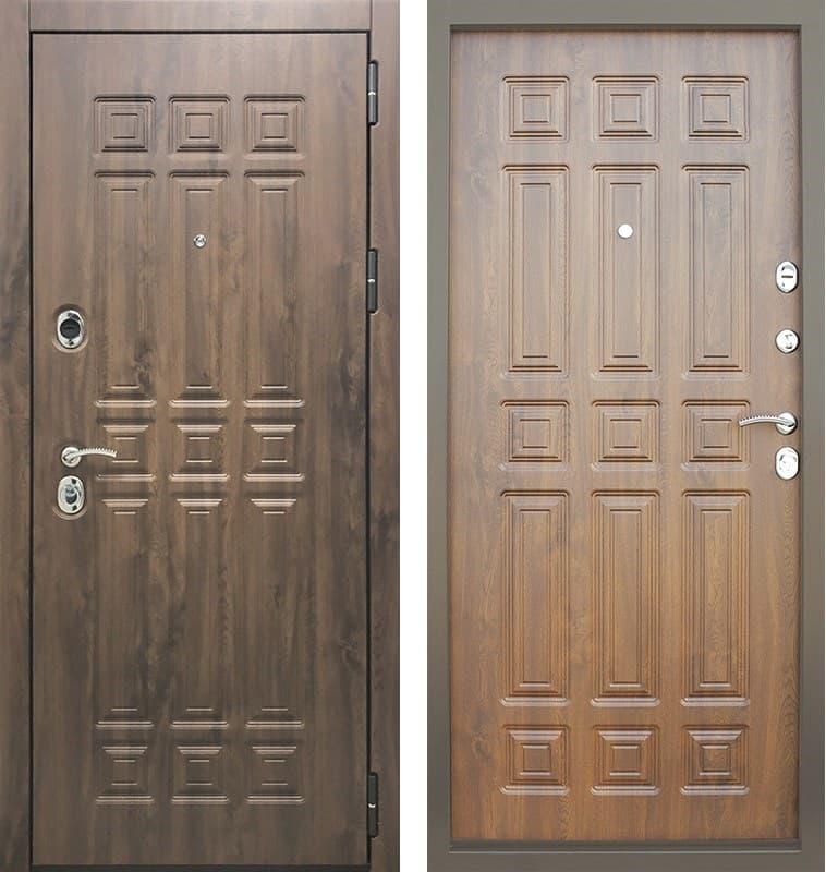 Входная металлическая дверь Снедо Спарта 3К Винорит (Тёмный дуб / Тёмный дуб)