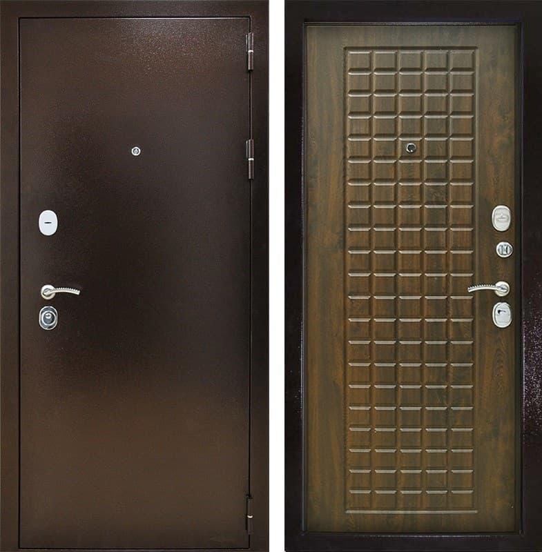 Входная металлическая дверь Снедо Титан 3К (Медный антик / Винорит Грецкий орех)