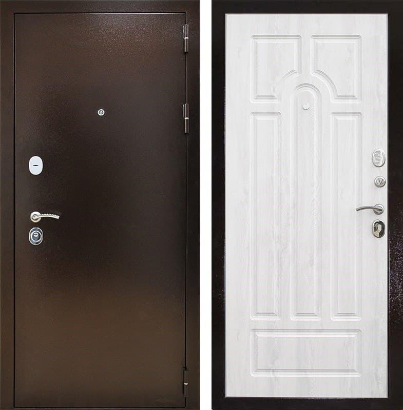 Входная металлическая дверь Снедо Титан 3К (Медный антик / Сосна белая)