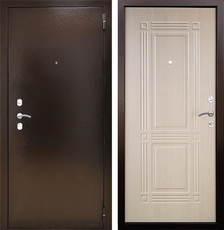Входная металлическая дверь Снедо Триумф 2К (Медный антик / Дуб беленый)