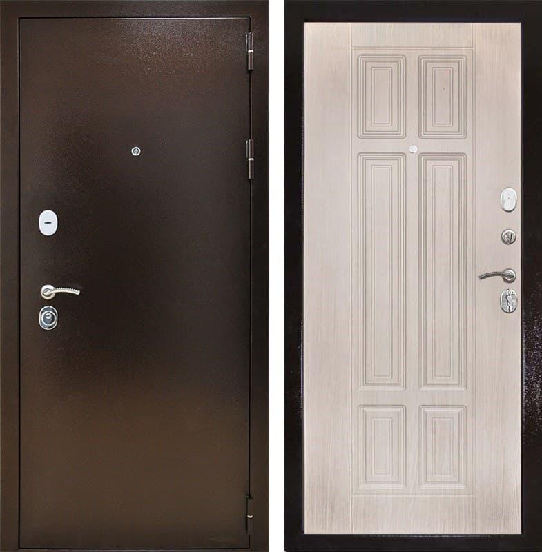 Входная металлическая дверь Снедо Т30 3К (Медный антик / Белая лиственница)