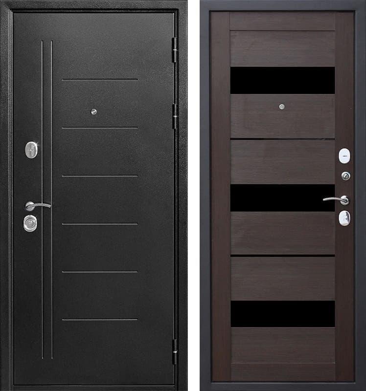 Входная металлическая дверь Троя (Антик темное Серебро / Темный кипарис)