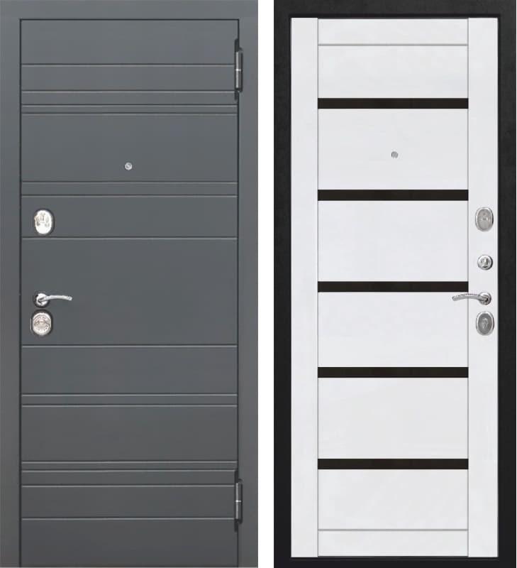 Входная металлическая дверь Чарлстон (Графит / Белый глянец)