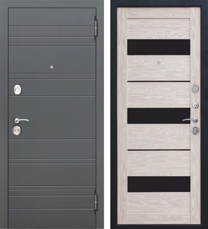 Входная металлическая дверь Чарлстон (Графит / Глянец мокко)