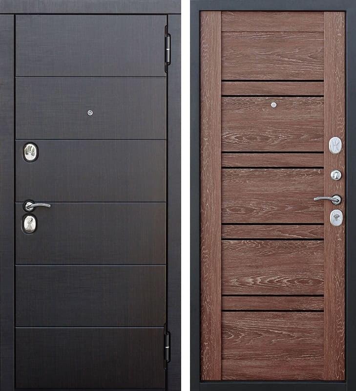 Входная металлическая дверь Чикаго (Венге / Дуб Шале корица)