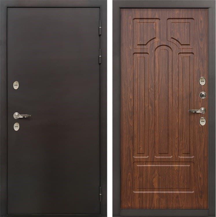 Входная металлическая дверь с терморазрывом Лекс Термо Сибирь 3К Береза мореная (панель №26)