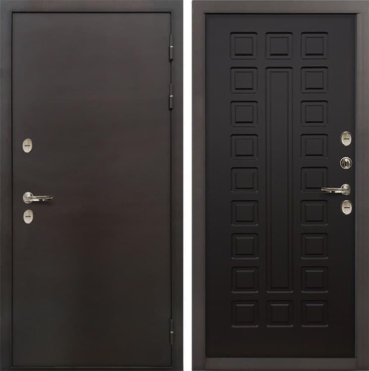 Входная металлическая дверь с терморазрывом Лекс Термо Сибирь 3К Венге (панель №21)