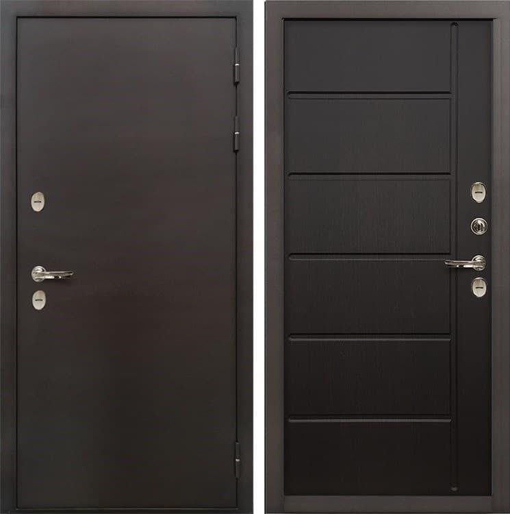 Входная металлическая дверь с терморазрывом Лекс Термо Сибирь 3К Венге (панель №41)