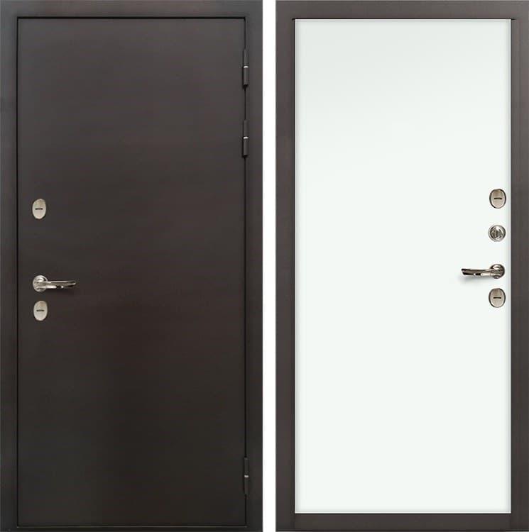 Входная металлическая дверь с терморазрывом Лекс Термо Сибирь 3К Винорит Белый (панель №59)