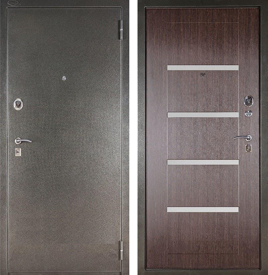 Входная металлическая сейф дверь Аргус ДА-10 Изабель (Серебро антик / Венге)