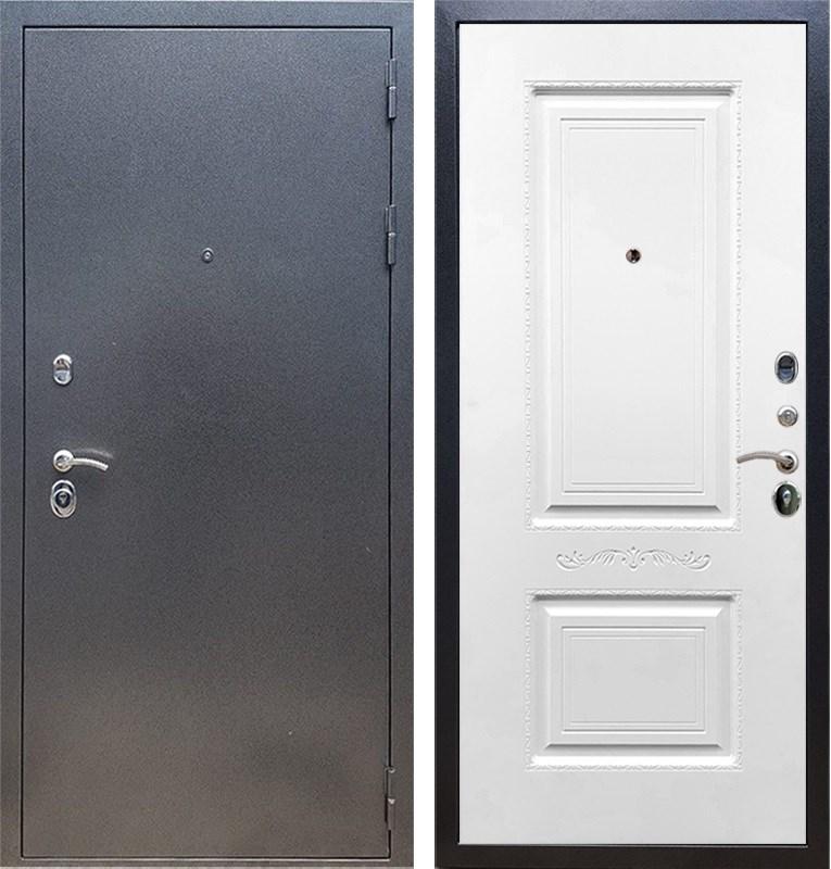 Входная стальная дверь Армада 11 Смальта 04 (Антик серебро / Белый матовый)