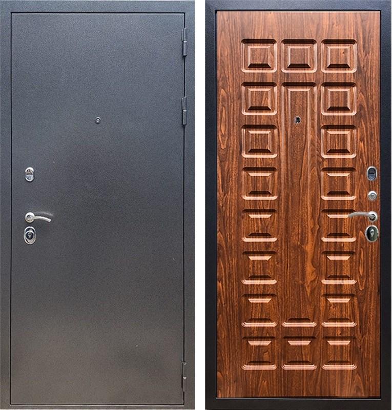 Входная стальная дверь Армада 11 ФЛ-183 (Антик серебро / Берёза морёная)