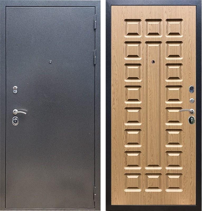 Входная стальная дверь Армада 11 ФЛ-183 (Антик серебро / Дуб светлый)