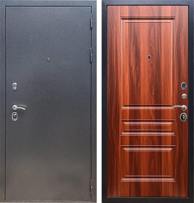 Входная стальная дверь Армада 11 ФЛ-243 (Антик серебро / Орех итальянский)